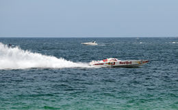 Offshore race boat sponsored by Hard Rock Cafe Royalty Free Stock Images