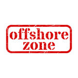 Offshore Red Stamp Grunge Sign Vector. Illustration Stock Image