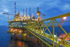 Offshore rig in gulf of Thailand Stock Photo