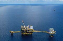 Offshore rig in gulf of Thailand Stock Photography