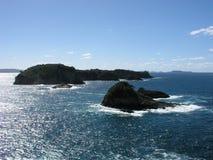 Offshore rocks. Mercury Bay, Coromandel Peninsula, New Zealand royalty free stock photo