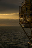 Offshore Sunrise. Sunrise in the Southern North Sea over a Gas Platform Stock Images