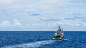 An offshore supply boat Stock Photos