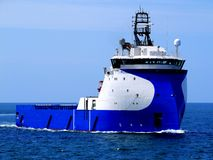 Offshore Supply Ship D. Offshore Supply Vessel underway at sea to offshore installation Stock Image