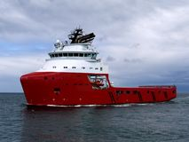 Offshore Supply Ship 15a. Offshore Supply Ship underway at sea Royalty Free Stock Images