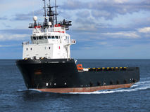Offshore Supply Vessel A1. Offshore oil and gas platform supply vessel underway to oil rigs Stock Photos