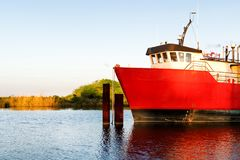 Platform Supply Vessel. An offshore supply vessel used in the oil and gas industry in the Gulf of Mexico Royalty Free Stock Images