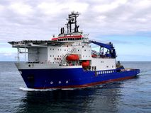 Free Offshore Support Vessel At Sea. Royalty Free Stock Images - 138131959