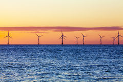 Offshore_wind_farm Stock Images