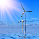 Offshore Wind farm Royalty Free Stock Photos