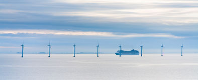Free Offshore Wind Farm At Early Morning Royalty Free Stock Photo - 22674855