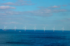Offshore wind farm in Baltic Sea Stock Photo
