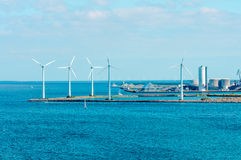 Offshore wind farm in Baltic Sea Stock Images