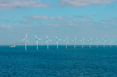 Offshore wind farm in Baltic Sea Stock Image