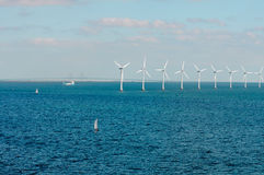 Offshore wind farm in Baltic Sea Stock Photos