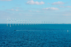 Offshore wind farm in Baltic Sea. Off Copenhagen, Denmark Royalty Free Stock Images