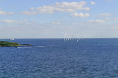 Offshore wind farm in Baltic Sea Royalty Free Stock Photos