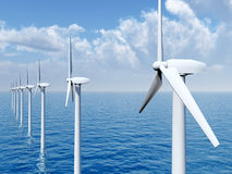 Offshore Wind Farm Stock Image