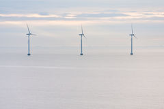 Offshore wind farm early morning Royalty Free Stock Image