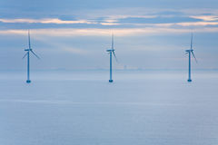 Offshore wind farm  at early morning Royalty Free Stock Images