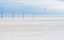 Offshore wind farm at early morning Royalty Free Stock Image