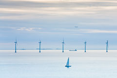 Offshore wind farm at early morning Royalty Free Stock Photography