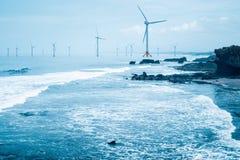 Offshore wind farm Stock Image
