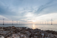 Offshore wind farm Royalty Free Stock Photo