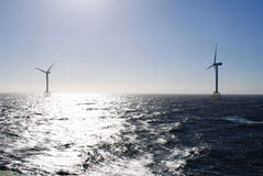 Offshore wind park Royalty Free Stock Photography