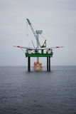 Offshore wind park Royalty Free Stock Images