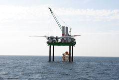 Offshore wind park under construction Stock Photography
