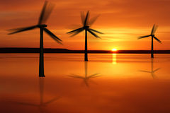 Offshore wind power plant Stock Image