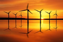 Offshore wind power plant Royalty Free Stock Photo
