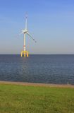 Offshore wind power plant in the North Sea Stock Photos