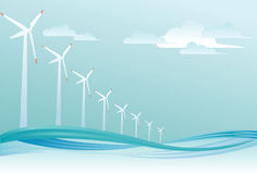 Offshore wind turbine Royalty Free Stock Image