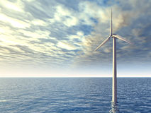 Offshore Wind Turbine Royalty Free Stock Images