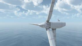 Offshore wind turbine Royalty Free Stock Photo
