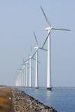 Offshore wind turbines in the Dutch sea Stock Photo