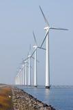 Offshore wind turbines in the Dutch sea stock photo