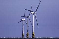Offshore wind turbines. Renewable energy source. Royalty Free Stock Photo
