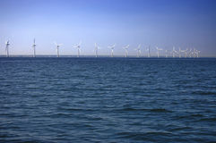 Offshore windfarm. Near Copenhagen, Denmark stock photography