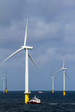 Offshore windfarm Stock Photo