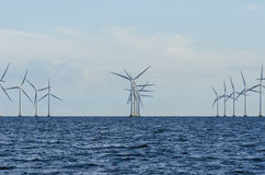 Offshore windfarm Lillgrund. Lillgrund Offshore Wind Farm is located about 10 km off the coast of southern Sweden, just south of the Öresund Bridge. Lillgrund Stock Image