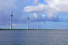 Offshore Windmill Farm Stock Photo