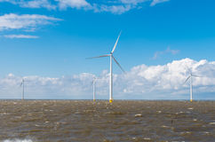 Offshore windmill park Royalty Free Stock Photo