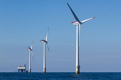 Offshore Windpark Royalty Free Stock Image