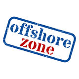 Offshore zone Stamp Grunge Sign Vector. Illustration Stock Images