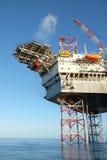 Offshorebauplattform stockfotos