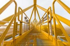 Offshoreindustrieöl und -gas lizenzfreie stockbilder