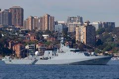 Offshorepatrouillenschiff OPV HTMS Krabi OPV-551 der k?niglichen thail?ndischen Marine in Sydney Harbor stockbilder